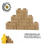 Custom Mini Set Brick Wall Dark Tan