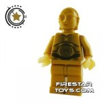 LEGO Star Wars Mini Figure C-3PO Dark Gold