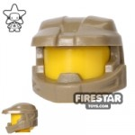 BrickForge Halo Space Marine Helmet Dark Tan