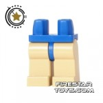 LEGO Mini Figure Legs Tan Blue Hips