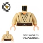 LEGO Mini Figure Torso Star Wars Tunic Tan
