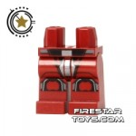 LEGO Mini Figure Legs Sith Trooper Armour Red