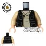 LEGO Mini Figure Torso Star Wars Han Solo Shirt and Jacket