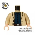 LEGO Mini Figure Torso Aldrich Killian Tan Jacket