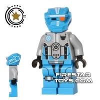 1 LEGO Minifigure Dark Azure Robot Sidekick