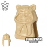 LEGO Mini Figure Heads Ewok Tan