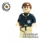 LEGO Star Wars Mini Figure Han Solo (Flesh) Tan Legs