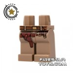 LEGO Mini Figure Legs Dark Tan Legs With Brown Gun Holster
