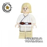 LEGO Star Wars Mini Figure Luke Tatooine Flesh White Pupils