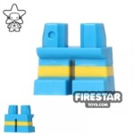 LEGO Mini Figure Legs Short Blue Shorts