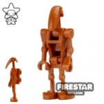 LEGO Star Wars Mini Figure Battle Droid with Back Plate Dark Orange