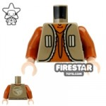 LEGO Mini Figure Torso Ezra Bridger Tan Vest