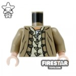 LEGO Mini Figure Torso Dark Tan Jacket with Button Loops