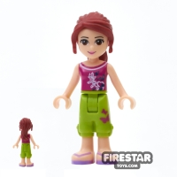 Lego Friends Mini Figure Mia Cropped Trousers Toy Parts Over One
