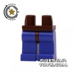 LEGO Mini Figure Legs Purple With Brown Hips