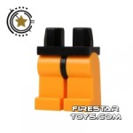 LEGO Mini Figure Legs Bright Light Orange With Black Hips