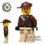 LEGO Adventurers Mini Figure Johnny Thunder Tan Legs