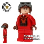 LEGO Star Wars Mini Figure Naboo Fighter Pilot Red Jumpsuit